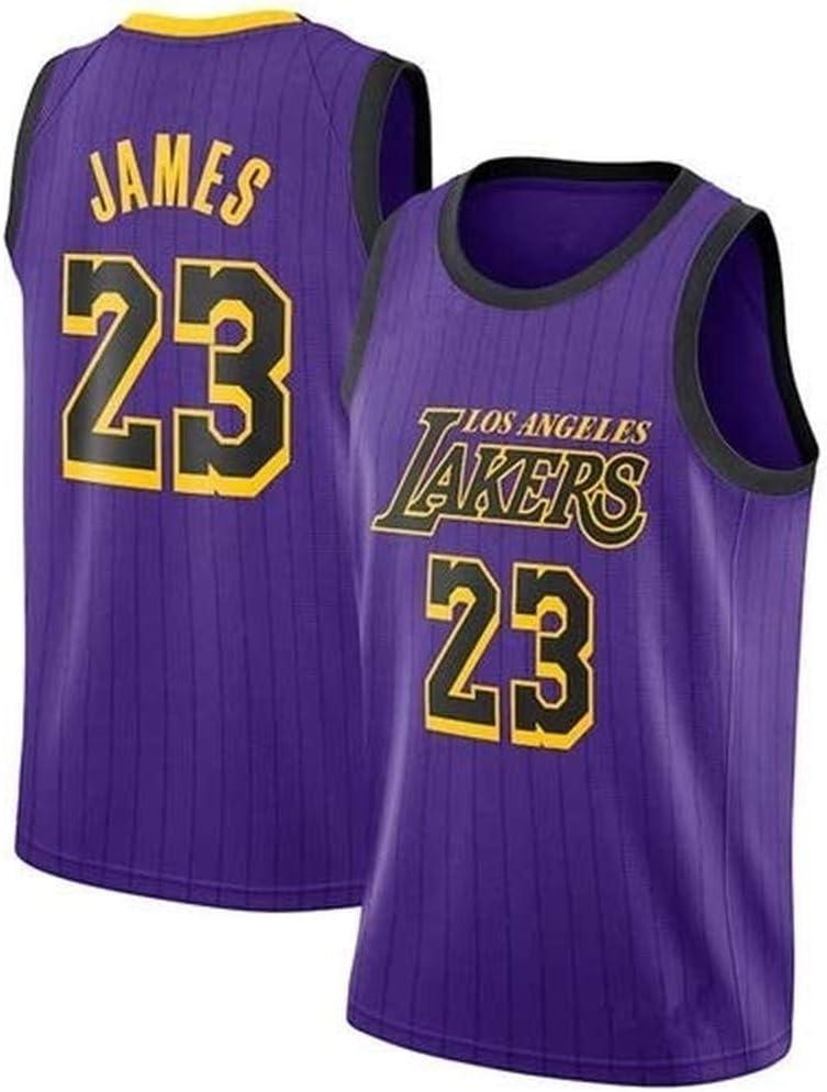 Talla: M-XXL Nueva Tela Bordada Swingman Jersey Boaze NBA Jersey Lebron James #23 de los Lakers de Baloncesto para Hombre