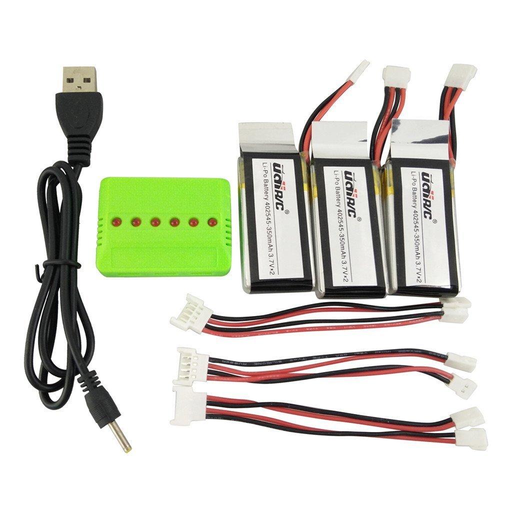 Baterias Lipo (3) Y Cargador 3.7v 350mah Rc Fytoo