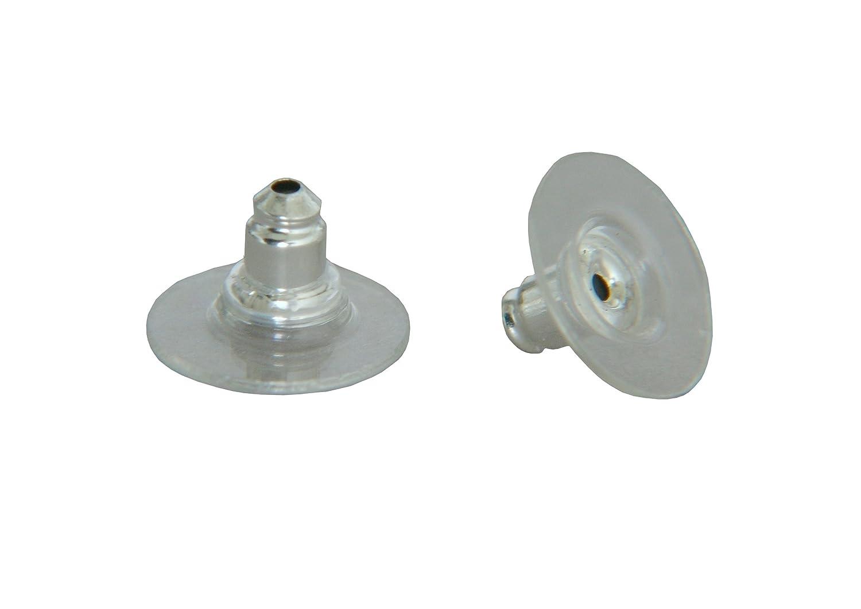 /Consegna Gratuita/ Set da 30/ganci punte orecchini metallo argento /Creation perline plastica 11/x 6/mm/