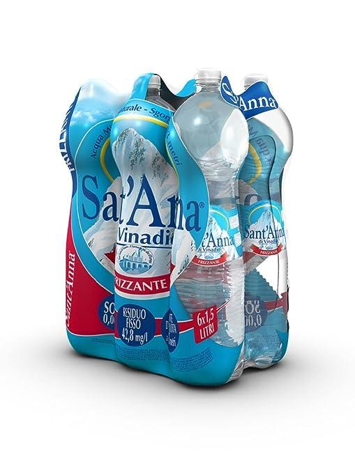 7 opinioni per Sant'Anna- Acqua Minerale 1.5L Frizzante (Confezione da 6)