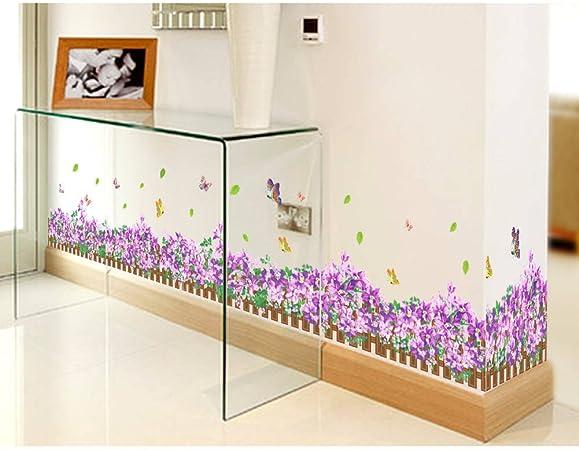 Modern Flower Floral Border B Wall Art Matt Vinyl Sticker Cupboard Decal
