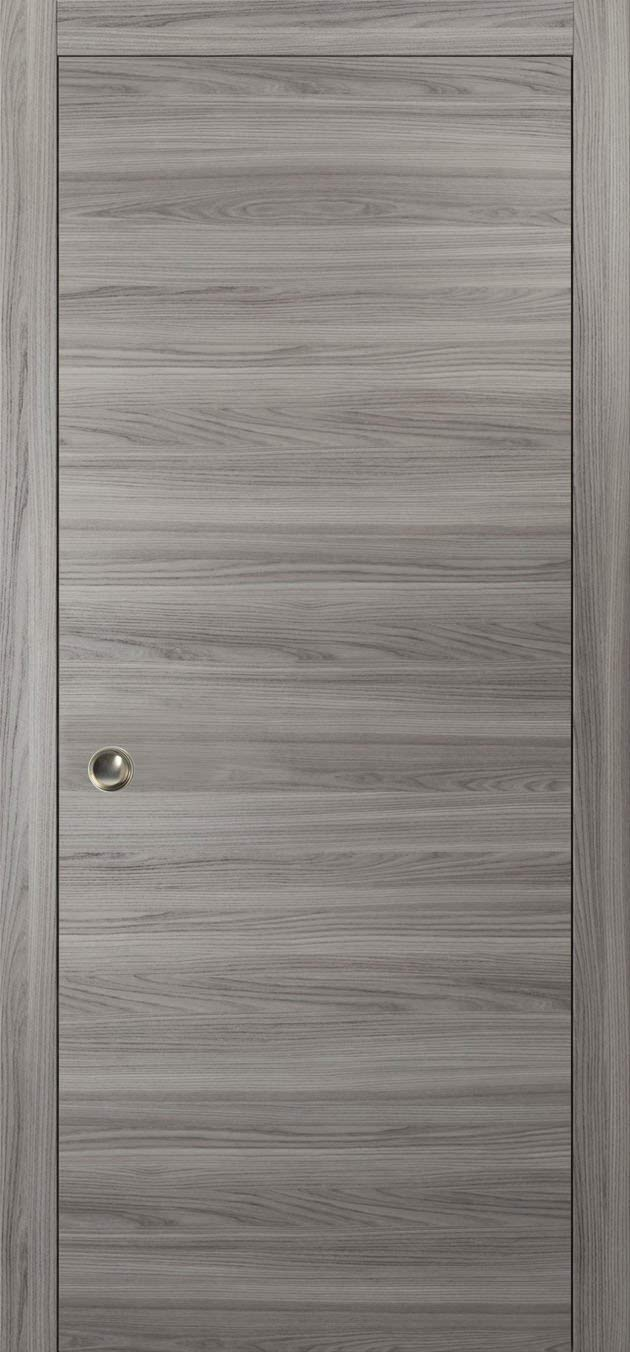 Modern Pocket Door 28 X 80 | Planum 0010 Ginger Ash | Frames Trims Pulls  Rail Hardware | Solid Wood Interior Sliding Closet Grey Door |      Amazon.com