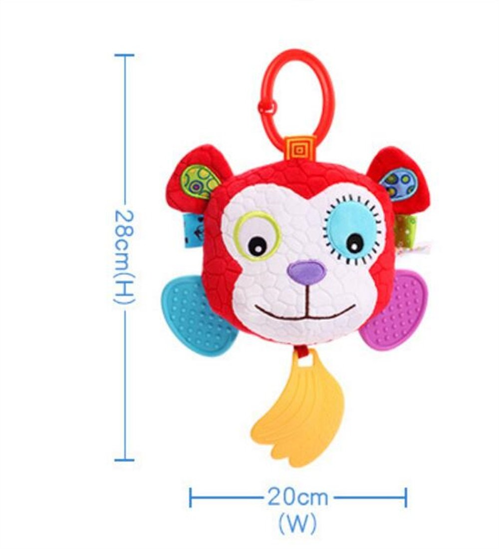 Royarebar Women's Accessories Cosmetic Mirror Kids Infant Lovely Monkey Rolling Hand Grasp Mirrors Toy Colorful Safety Mirror Gift