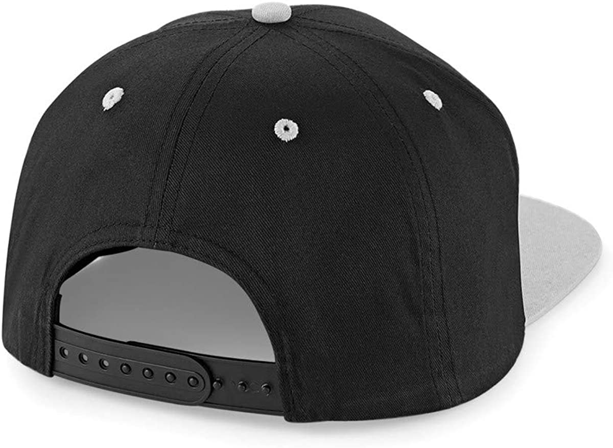 Black Cap//Blue Peak Unique Merch Preston Playz Snapback Baseball Cap