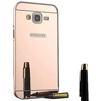 9cfb120c610 Funda Espejo Aluminio Metal Carcasa para Samsung Galaxy Grand Neo Plus /  Grand Neo / Grand Lite GT-i9060i i9060 i9062 i9082 (5 pollici) Color  Rosado: ...