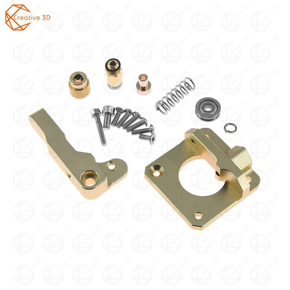 MK8 extrusor de impresora 3D bloque de aluminio DIY Kit todo metal ...