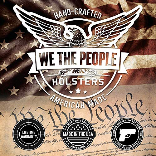 We The People - OWB Holster Compatible with Ruger American 9 Fullsize Gun -  Outside Waistband Concealed Carry Kydex Holster (Right Hand, Pink Camo)