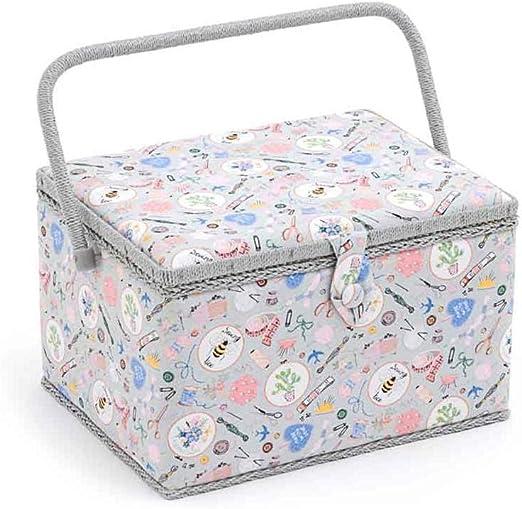 Caja de costura grande, de tela, ideal para regalo: Amazon.es: Hogar