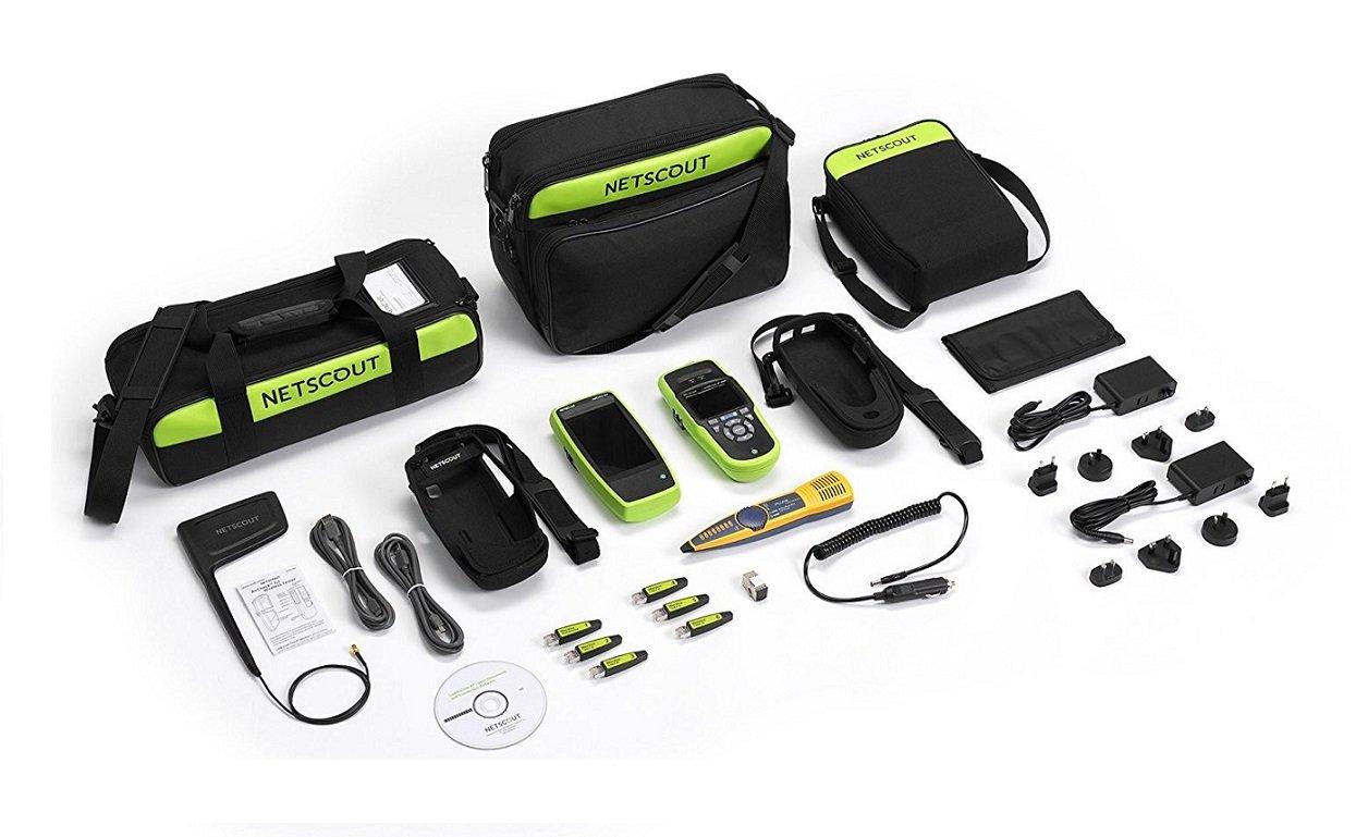 NETSCOUT ACKG2-LRAT2000 Network Troubleshooting Kit, Wi-Fi Tester, Copper Tester, Fiber Tester