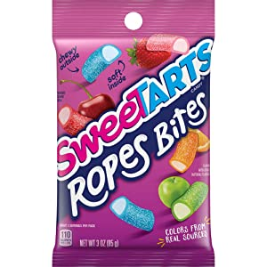SweeTARTS Ropes Bites, 3 Ounce, Pack of 12