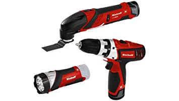 Einhell Expert 4257191 Set de herramientas TE-TK 12 Li, 12 V, 2 baterías de iones de litio, cargador, taladro con puntas, herramienta multifunción con ...
