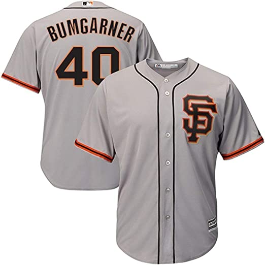 official photos 049f7 55cb5 Majestic Madison Bumgarner San Francisco Giants MLB Youth Gray Road Replica  Jersey