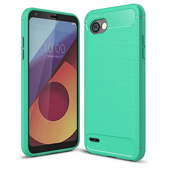 super popular f9d46 44b47 LG Q6 Case, LG G6+ Case, LG Q6 Plus Case - Suensan TPU Shock Absorption  Technology Raised Bezels Protective Case Cover for LG Q6 Mini (Mint Green)