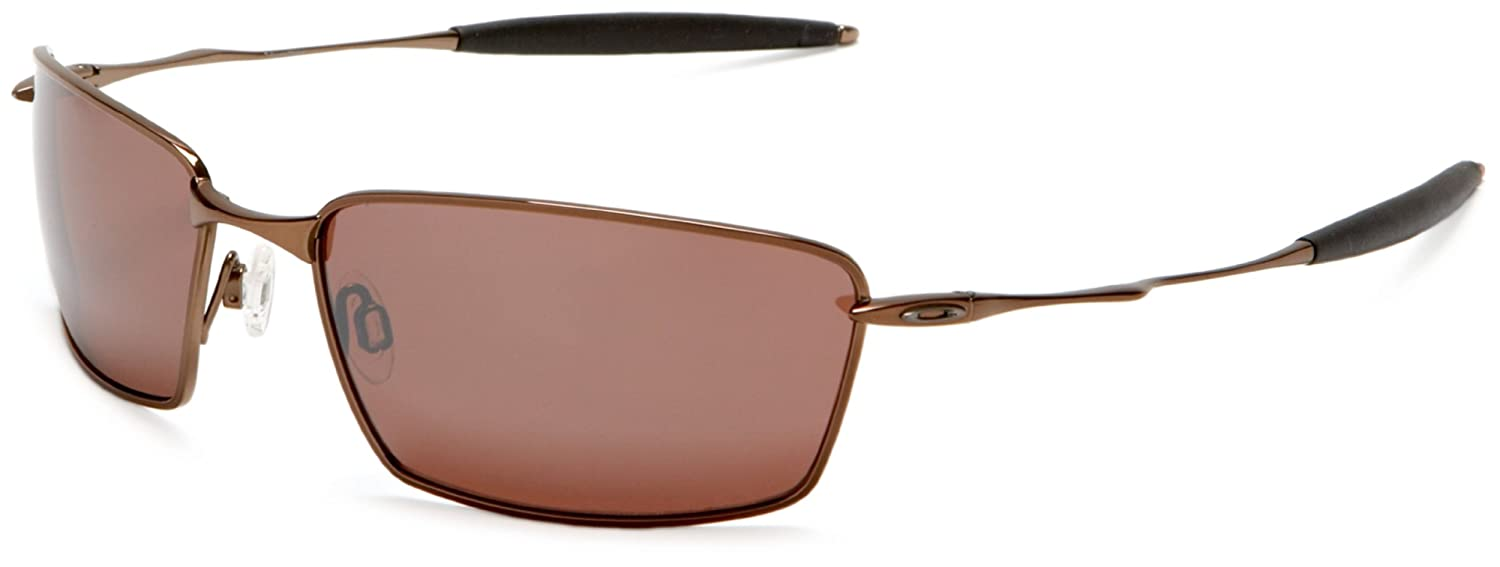 5b4029aadfb OAKLEY SUNGLASSES SQUARE WHISKER POLARIZED TITANIUM BURNT COPPER VR28 BLACK  IRIDIUM 12-963  Amazon.co.uk  Sports   Outdoors