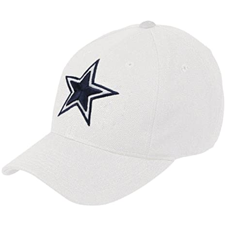 Amazon.com   Dallas Cowboys Basic Wool Logo White Flex Fit Hat ... 2379cc863