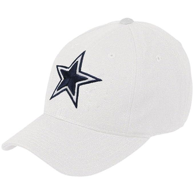 b70c7d2e Dallas Cowboys Basic Wool Logo White Flex Fit Hat