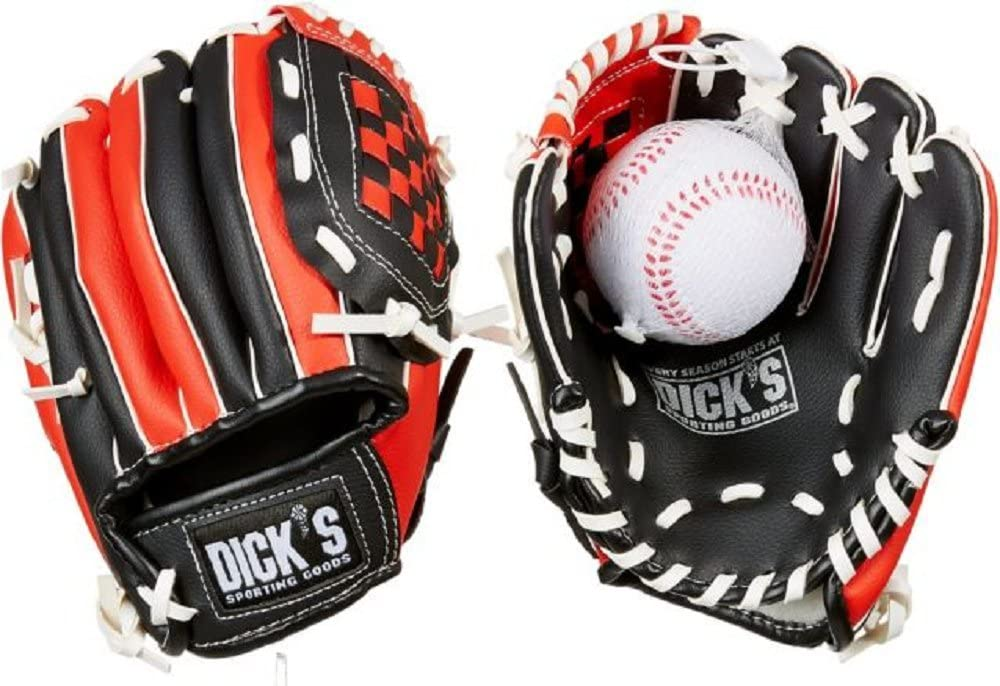 Patio de artículos deportivos T-Ball guante y pelota, mano derecha ...