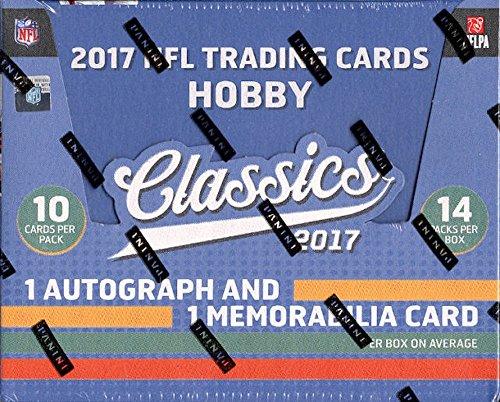 2017 Panini Classics Football Hobby Box (14 Packs of 10 Cards: Average 1 Autograph and 1 ()