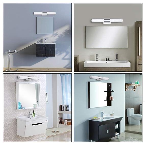 Lámpara LED de pared para baño o espejo, color blanco cálido ...