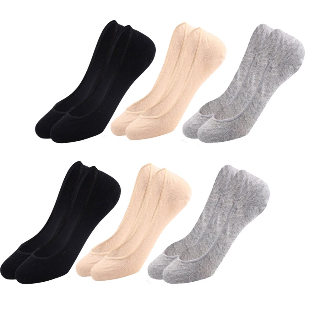 LITTHING No Show Socks for Women 6 or 10 Pairs Cotton Invisible Flat Socks