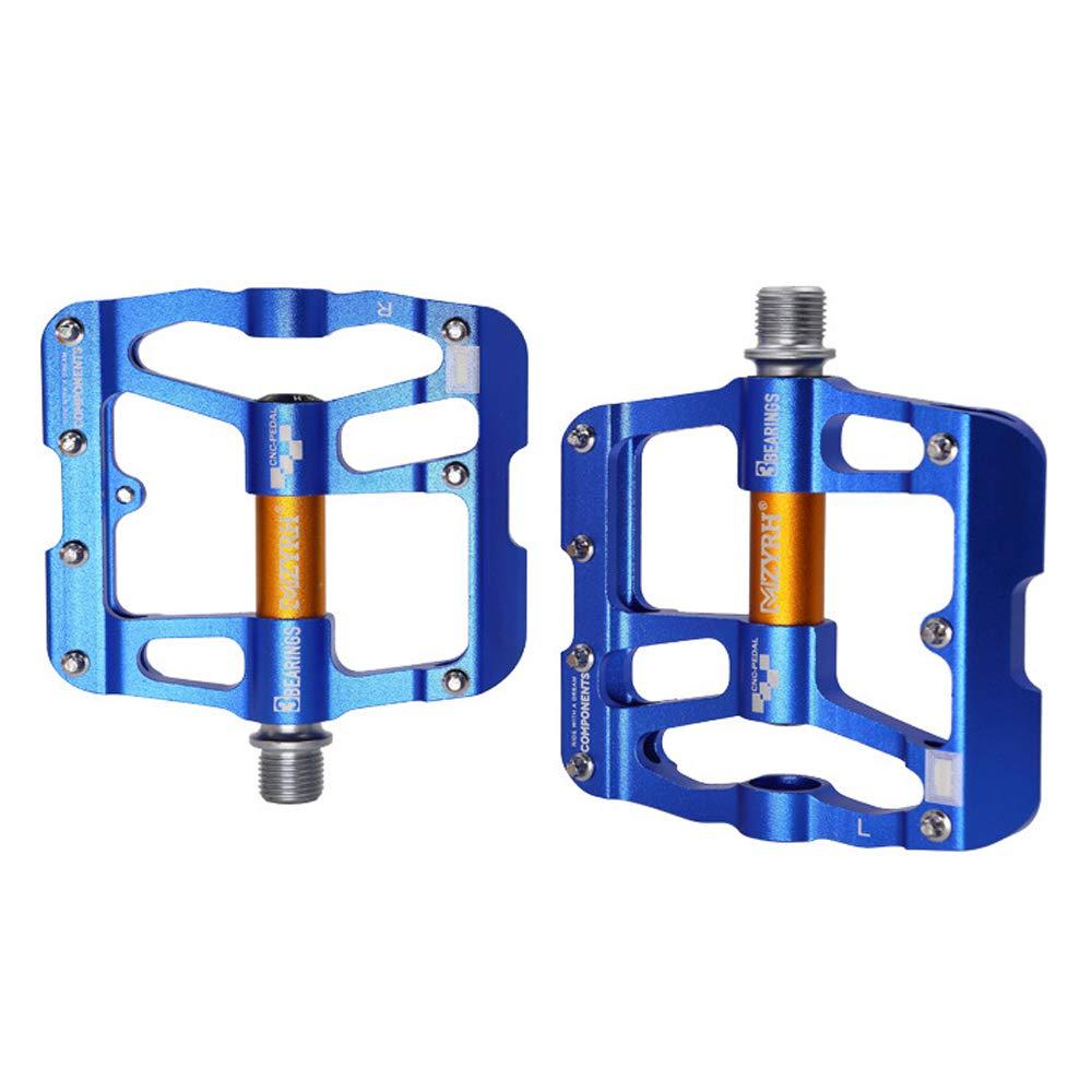Azul VOANZO Pedales de Bicicleta de monta/ña 1 par Aleaci/ón de Aluminio Pedales de Bicicleta Plegables Accesorio para Ciclismo al Aire Libre