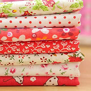 Paleo 7pcs muñecas de tela de algodón 50x50cm rojo serie de ...