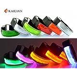 Kailian ® Running Flashing Wristband/Waterproof LED Light Armband Safely Walking, Visibility Flashing Safety Armband Cycling Jogging Walking Reflective LED Armband (6 Colors Available)