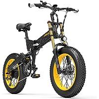 X3000plus-UP Bicicleta de Nieve de 20 Pulgadas con neumáticos Gruesos y 4.0, Bicicleta montaña Plegable, Motor 1000W…