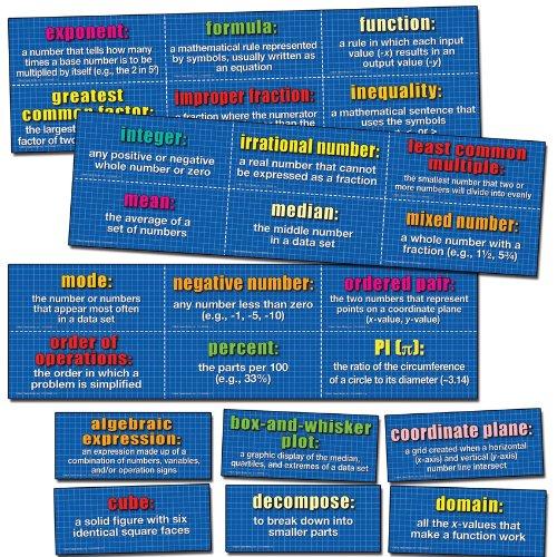 Carson Dellosa Mark Twain Mathematics Domain Bulletin Board Set (410086) -