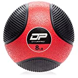 DYNAPRO Medicine Ball | Exercise Ball, Durable Rubber, Consistent Weight Distribution, Comfort Textured Grip for Strength Training (Red- 8LB)