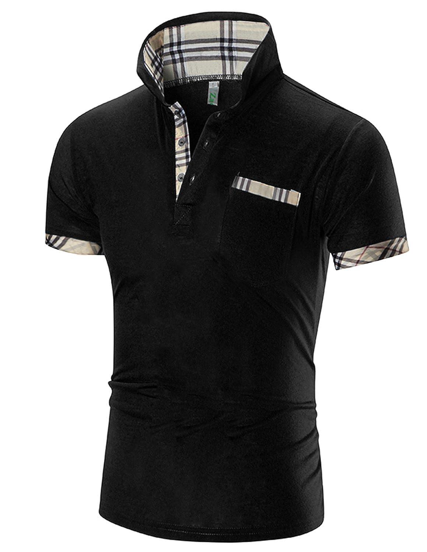 Boom Fashion Semplice Basic Classico manica corta collo polo da uomo UUS170613