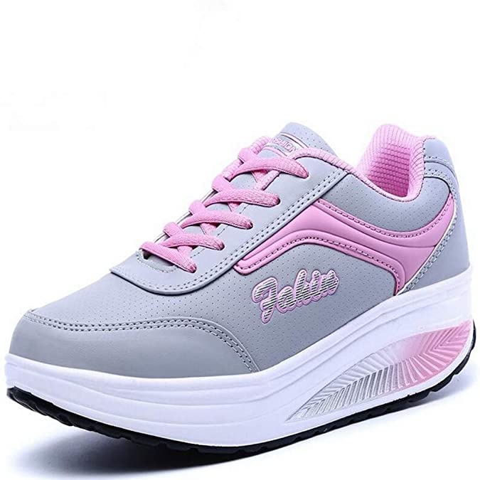 Amazon.com | T-JULY Womens Sneakers Platform Frauen Casual Shoes Ladies Basket Femme Wedges Trainers Zapatillas Deportivas Mujer | Shoes