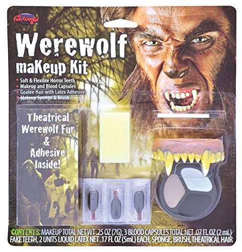 Blue Banana Werewolf Face Paint -