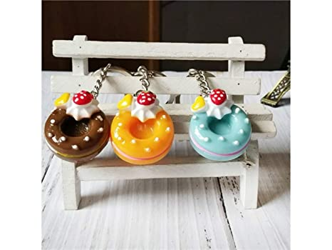 Yhcean Creativo Realistic Food Cake Donut Llavero para Mujer ...
