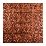 Fasade Easy Installation Traditional 1 Moonstone Copper Lay In Ceiling Tile/Ceiling Panel (2' x 2' Tile)