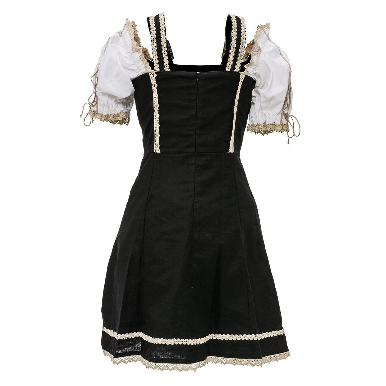 PureDay Kleid Sarafina - verstellbare Träger, Rückenteil mit Reißverschluss, gefüttert - figurbetont - Trachtenstil