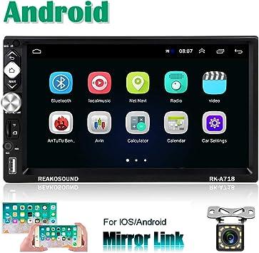 2 DIN Android Radio Coche GPS CAMECHO 7 Pulgadas Pantalla táctil ...