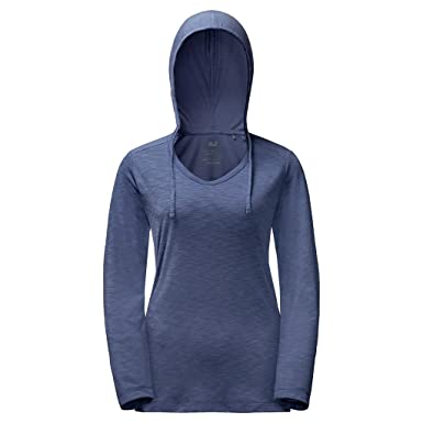 online store edfc0 6d774 JACK WOLFSKIN Damen T-Shirt TRAVEL HOODY LONGSLEEVE WOMEN ...
