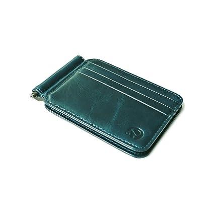fa72e0dd0b6b Amazon.com : Zhi Jin 1Pc Retro Leather Credit Card Protector Wallet ...