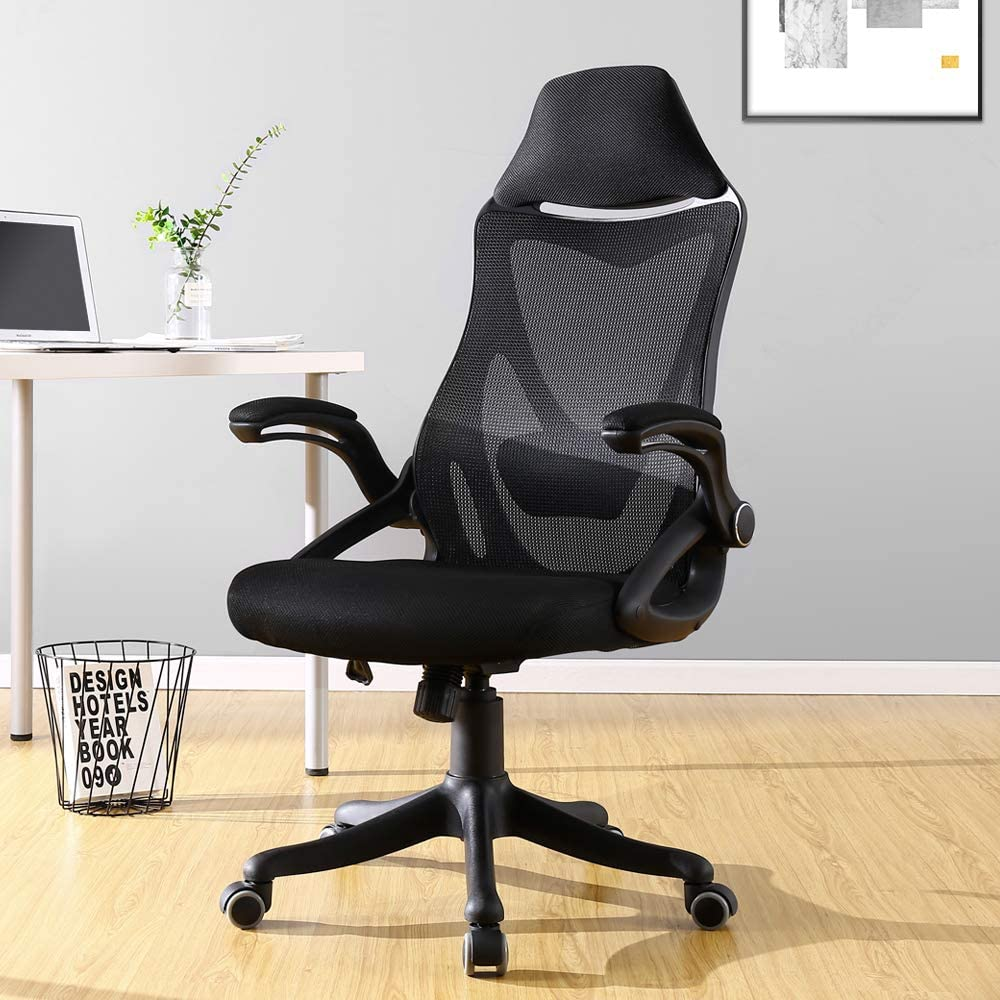 BERLMAN Ergonomic High Back mesh Office Chair with Adjustable Armrest Lumbar Support Headrest Swivel Task Desk Chair Computer Chair