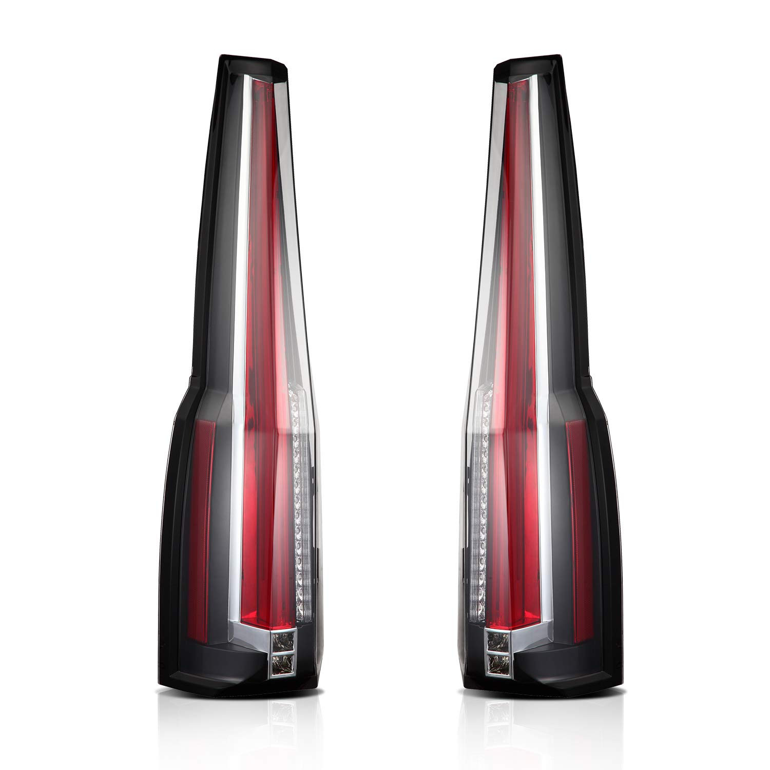 Aoedi Tail Lights Fit Cadillac Escalade 2007 2014 Rear 07 08 Wiring Schematic Light Assy Lamp Led Custom Replacement Sold In Pair Automotive