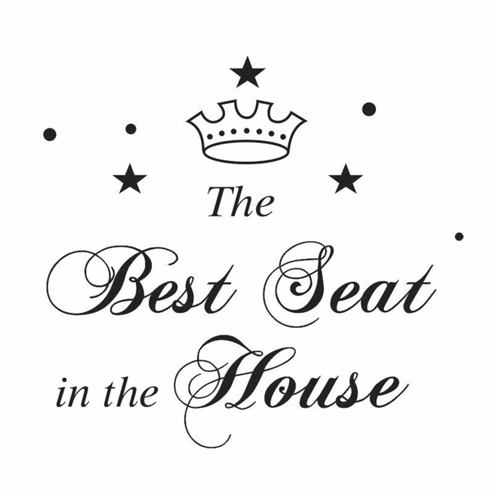 Funny Crown Pattern The Best Seat Sign Decal Bathroom Toilet Seat Sticker Greenlans AHGRD014181