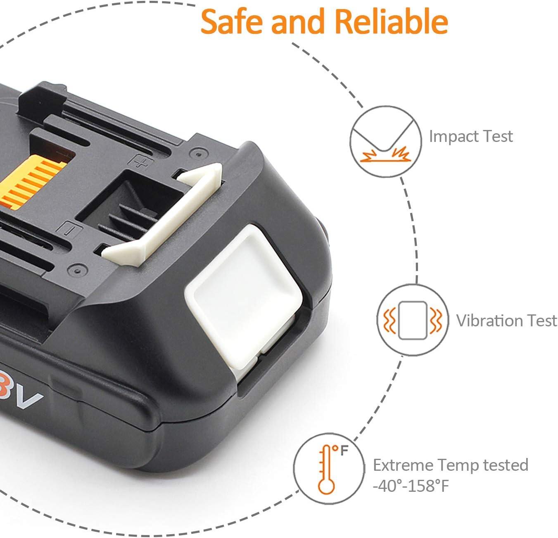 LENOGE herramienta el/éctrica bater/ía negro