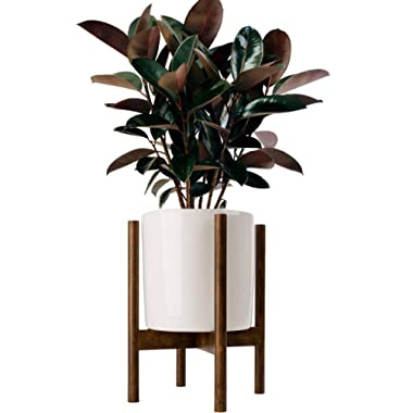 Acctractive Mid Century Floor Plant Stand - Solid Wood Indoor Flower Pot Holder - Modern Home Decor (Planter Not Included)