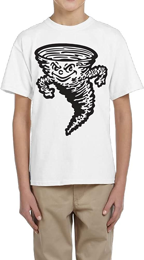 Fzjy Wnx Boys Short Sleeve Tee Crew-Neck Cyclone Tropical Storm