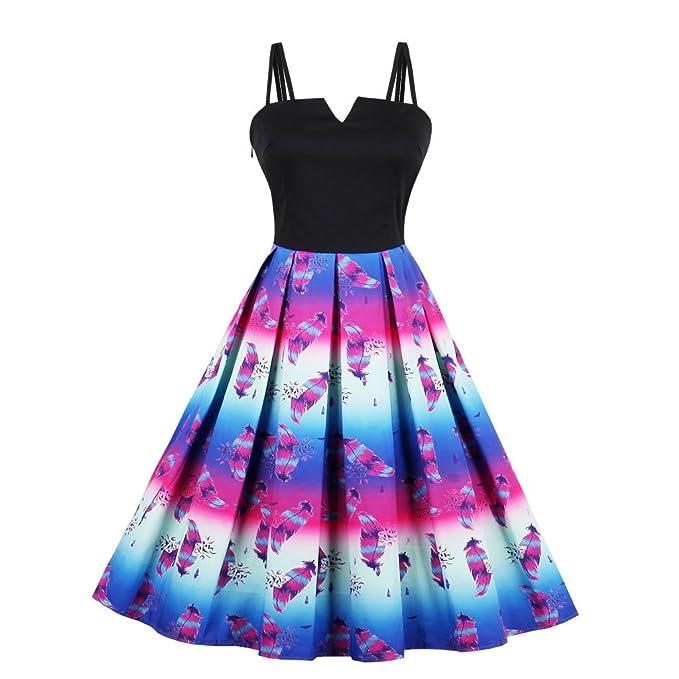 VERNASSA Vestido de Noche Retro para Mujer, Vestidos de Fiesta Rockabilly de los años 50