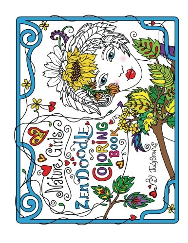 Download Zen Doodle Coloring Book Nature Girls Pdf