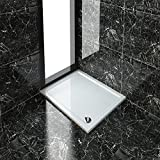 Rectangular 1100x900x40mm Stone Tray for Shower Enclosure Cubicle+Free Waste Trap NEXT DAY DELIVERY by sunny showers,ultra