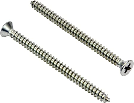 40 pcs Round Slot Drive 18-8 AISI 304 Stainless Steel #14 X 1-1//2 Wood Screws