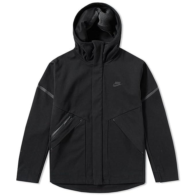800ce2553b5dd Nike Sportswear Tech Fleece Repel Windrunner Jacket Men Black Heather  867658-010 (Large)